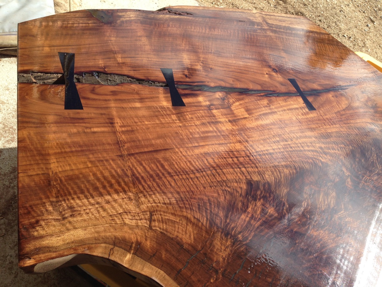 claro walnut from a salvaged urban tree