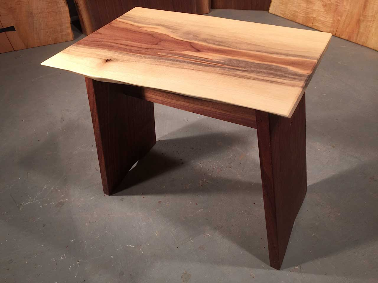 Walnut Live Edge Top With Solid Walnut Legs