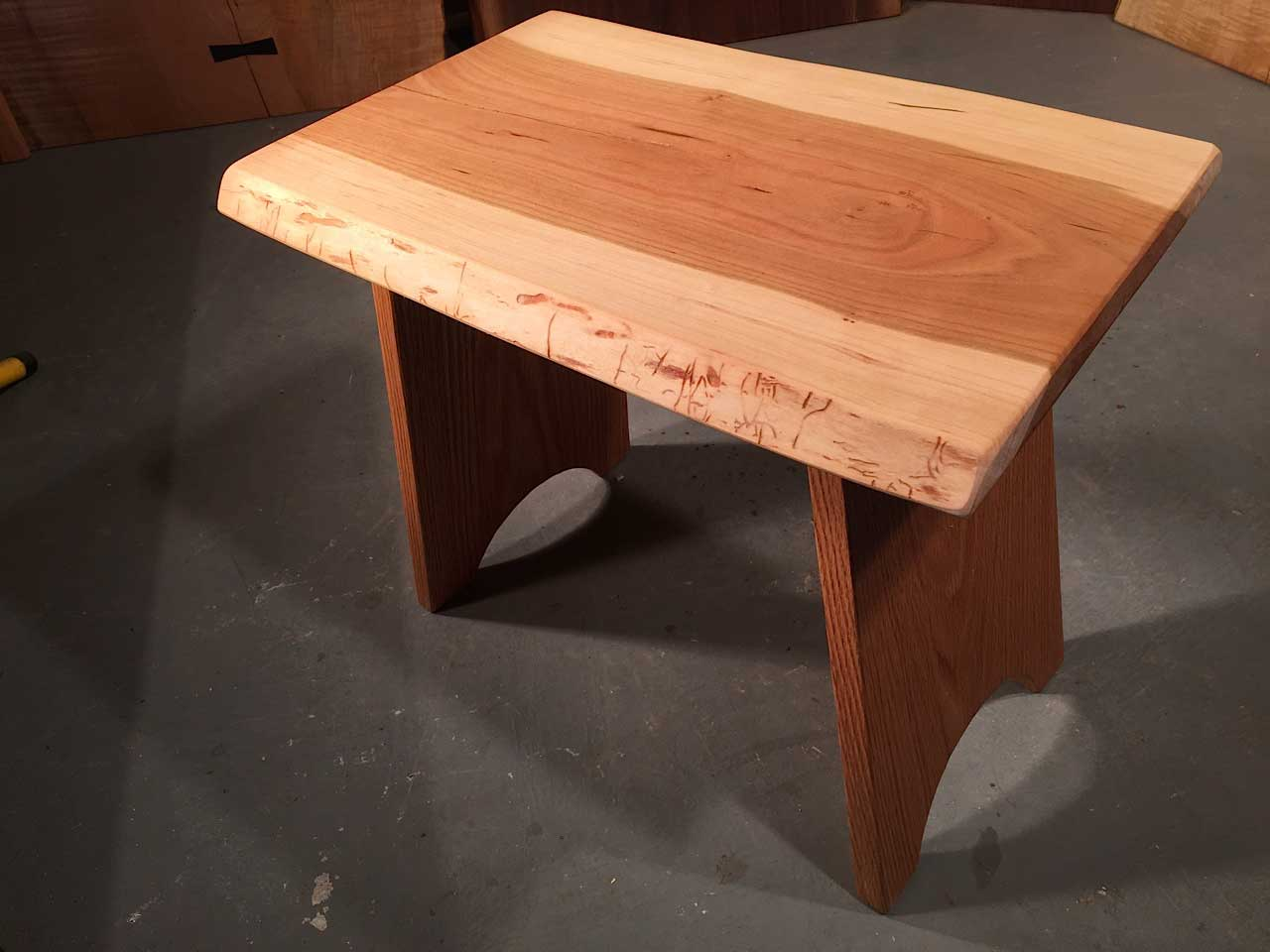 Cherry Live Edge Top With Solid Oak Legs