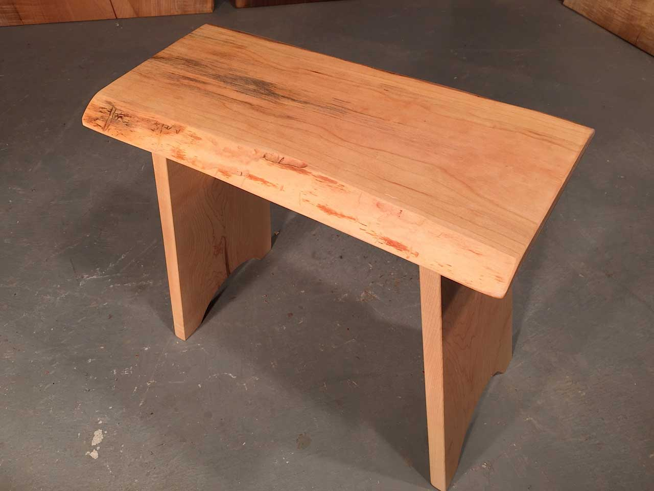 Cherry Live Edge Top With Solid Maple Legs