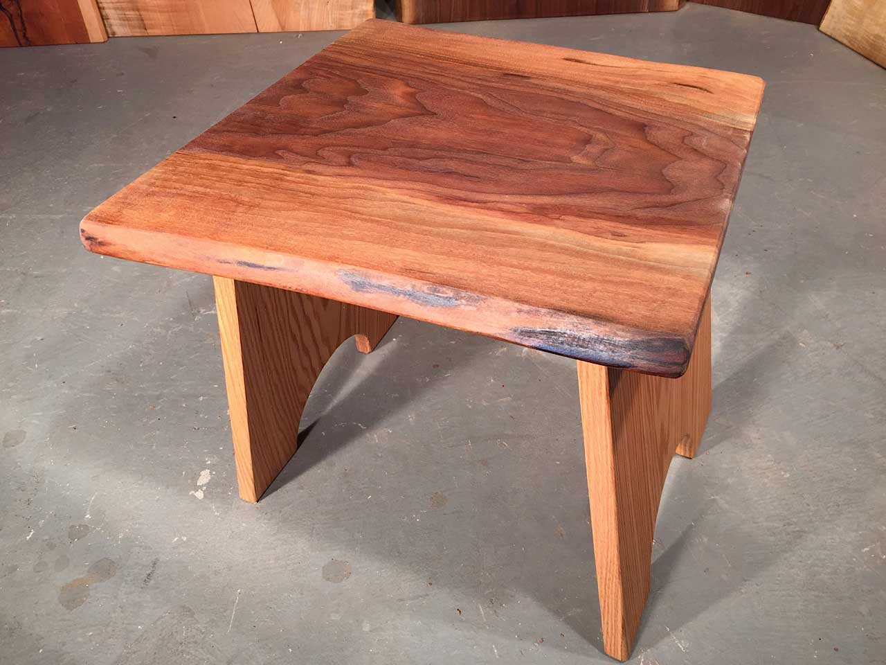 Walnut Live Edge Slab Top With Solid Oak Legs