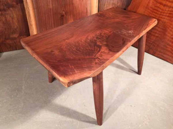 Custom Figured Walnut Bench