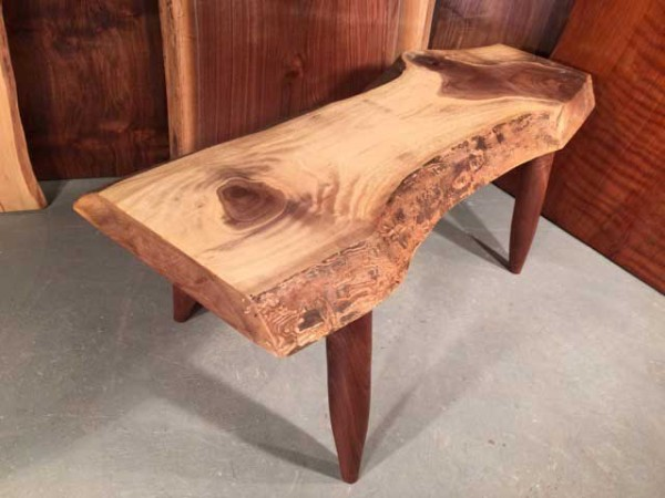 Custom Walnut Bench