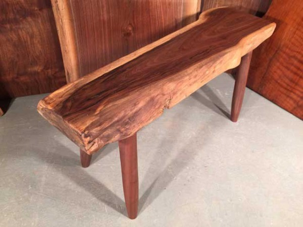 Custom Walnut Live Edge Bench