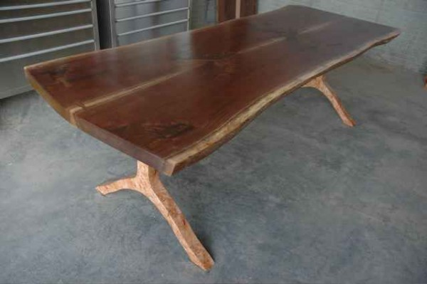 Reclaimed Walnut Slab Conference Table