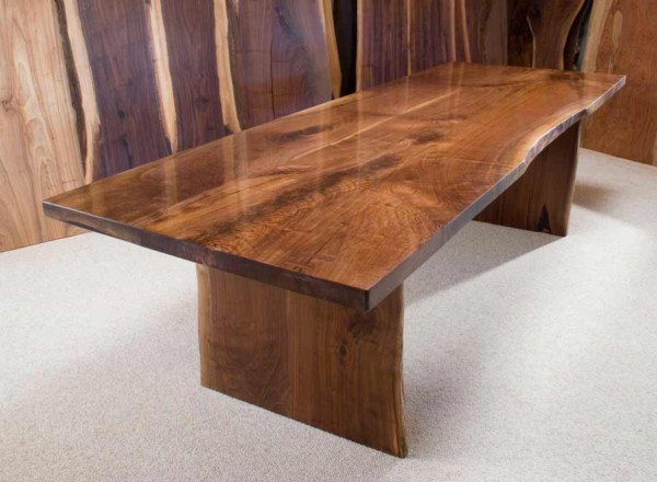 Figured Walnut Crotch Conference Table