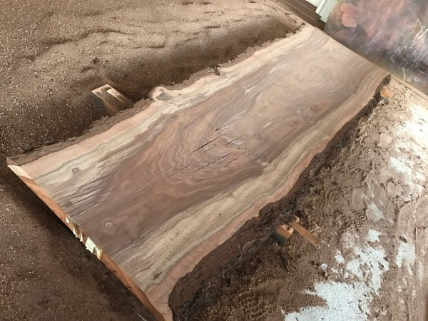 11 Foot Walnut Slab Bar Top