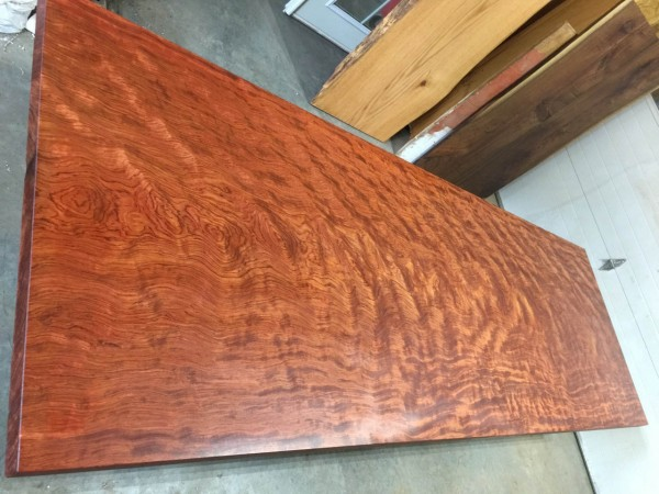 10′ Reclaimed Bubinga Slab Table Top