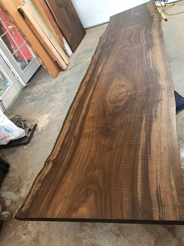 11′ Custom Reclaimed Walnut Slab Tabletop