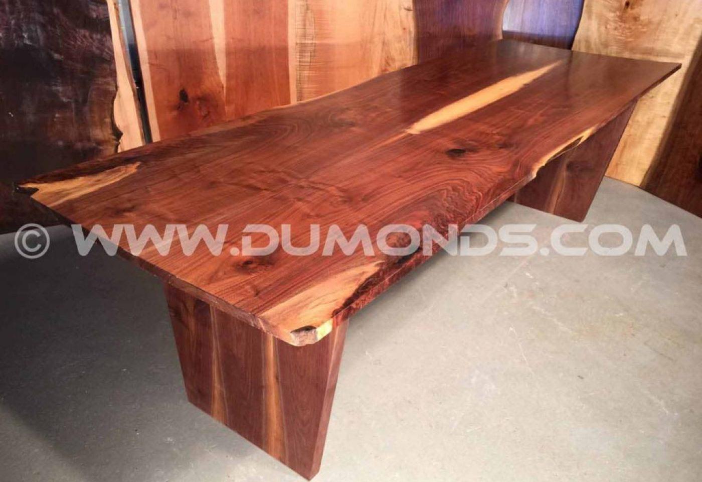 URBAN RECYCLED MARYLAND WALNUT LIVE EDGE SLAB TABLE