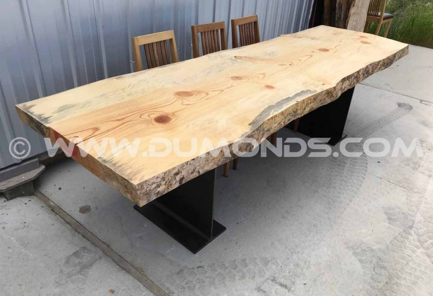 AIR DRIED KNOTTY PINE LIVE EDGE TABLE