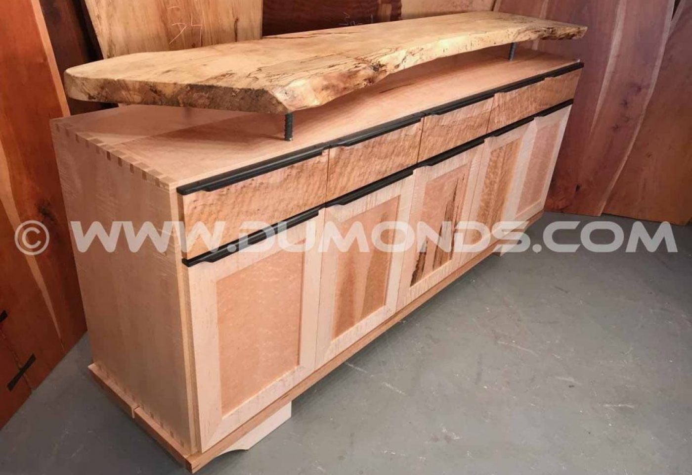 """THE KOONS""SPALTED MAPLE AND EBONY SIDEBOARD"