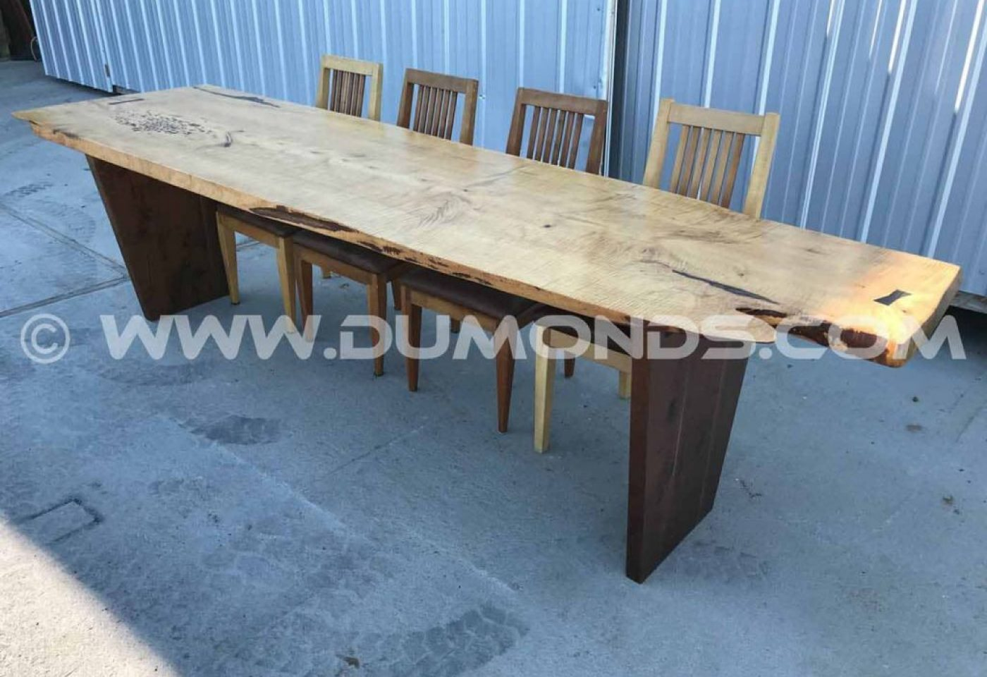 9′ EXTREMELY CURLY MAPLE LIVE EDGE CONFERENCE TABLE