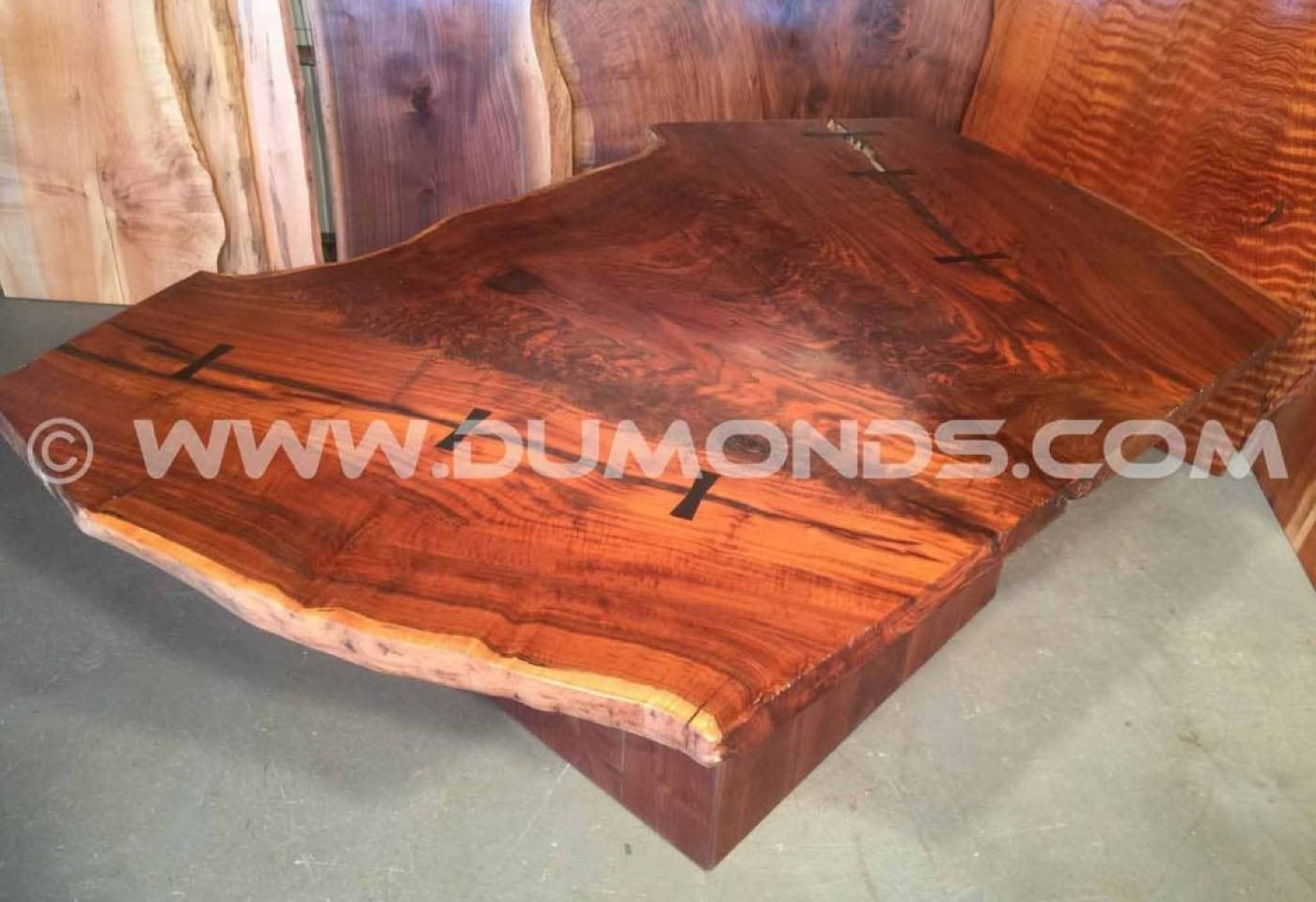 SALVAGED, RECYCLED CURLY WALNUT CROTCH WOOD