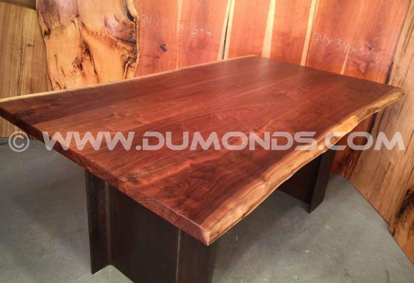 PENNSYLVANIA WALNUT LIVE EDGE SLAB TABLE