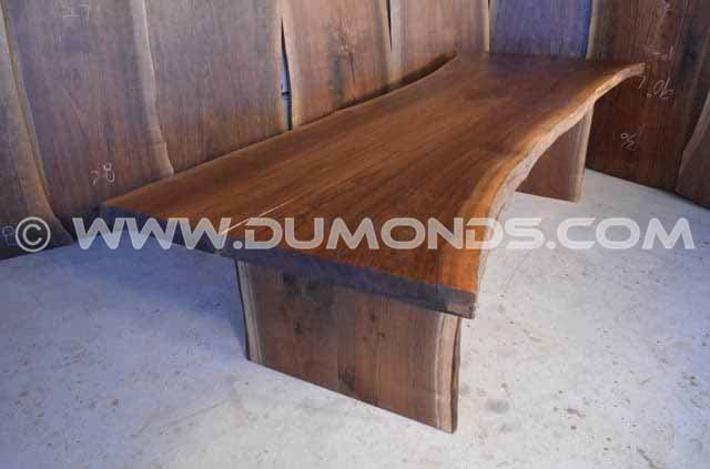#10 - 113″ long Walnut Crotch Live Edge Dining Table