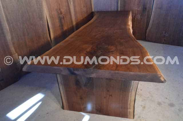 115″ Long Rustic Live Edge Dining Table