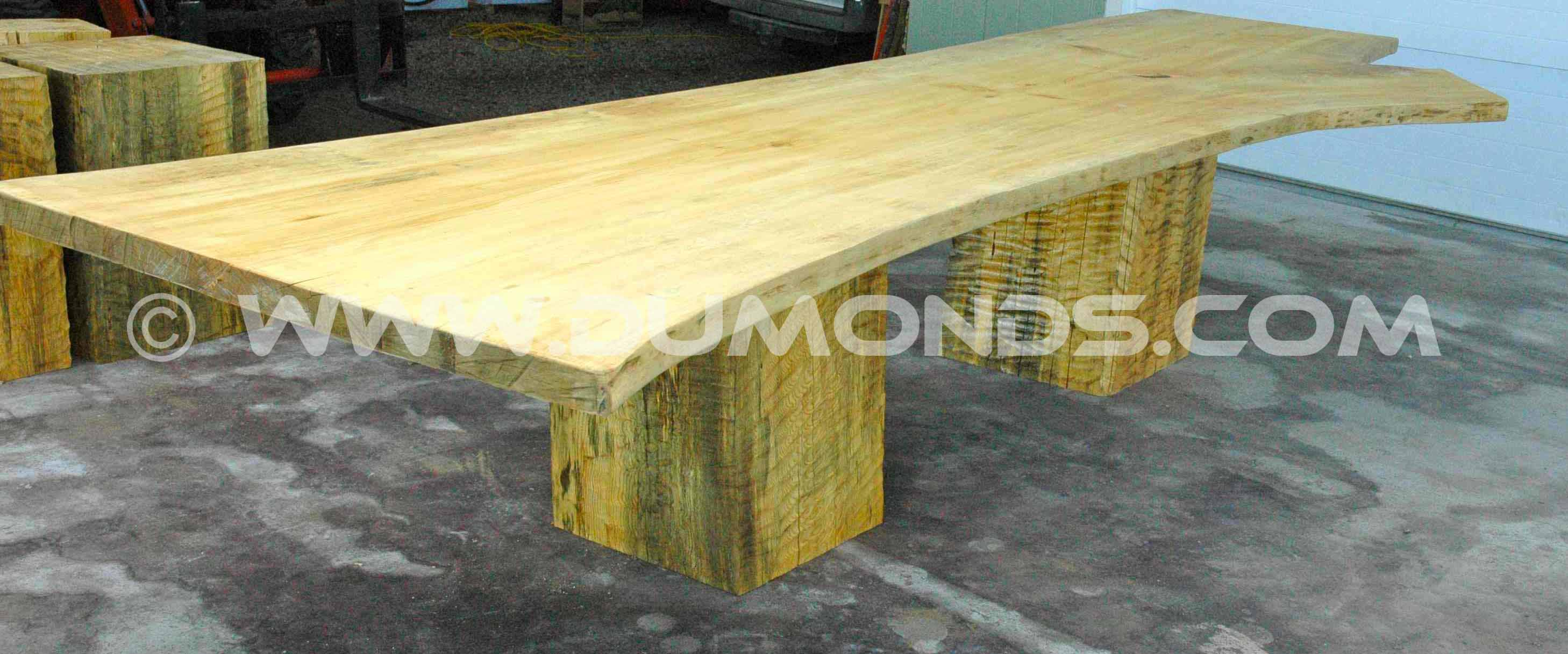 15.5' Long Ginkgo Slab Custom Dining Table