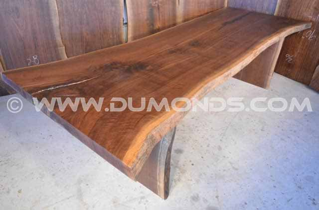 114″ long Natural Edge Dining Table