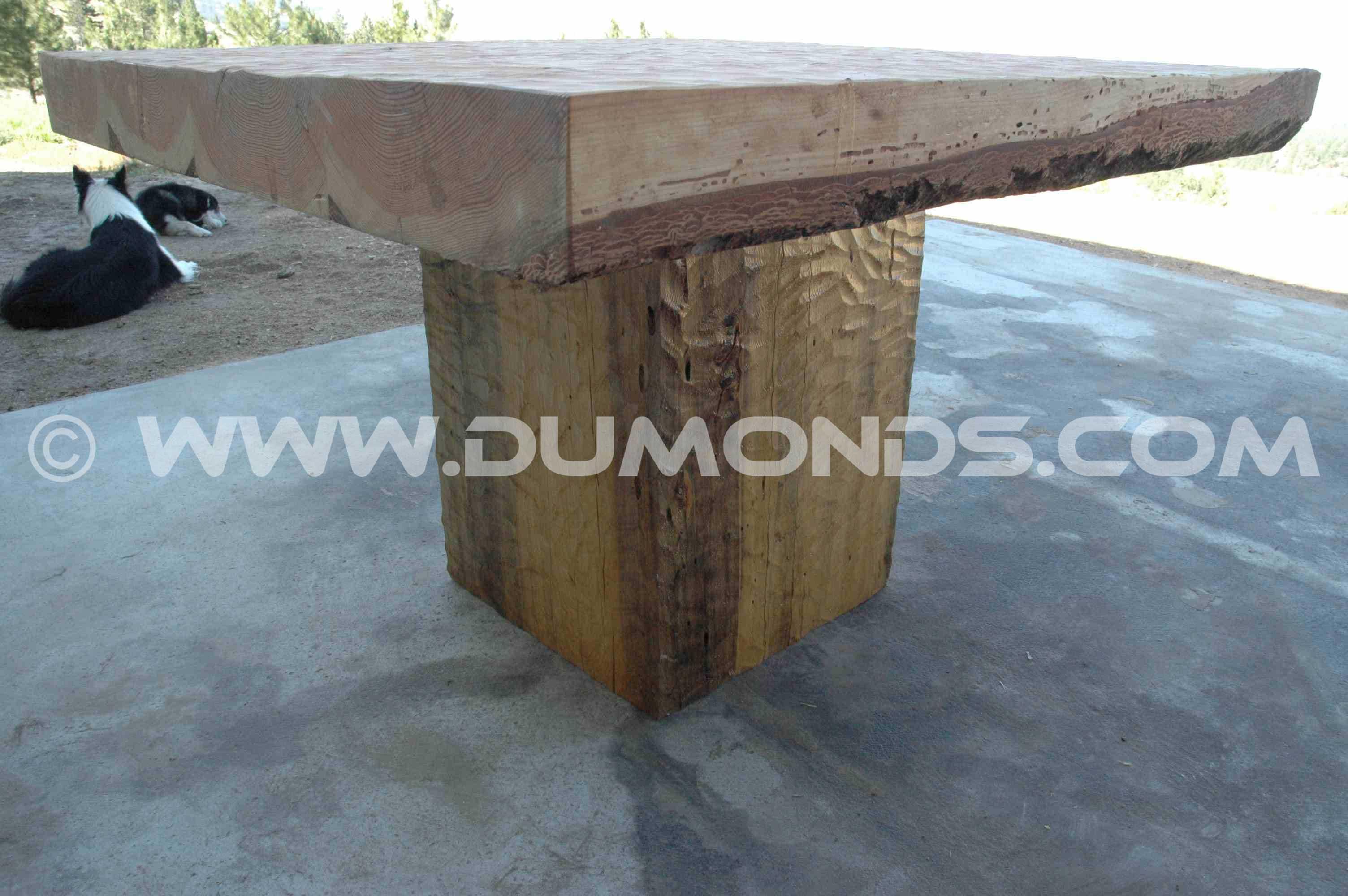 Extra Thick 3.5″ 4×4′ Douglas Fir Slab Custom Dining Table
