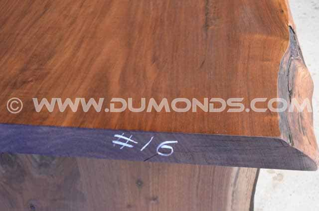 112″ Long Recycled Live Edge Dining Table