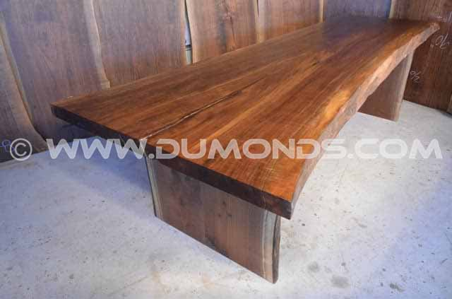111″ Long Natural Edge Walnut Dining Table