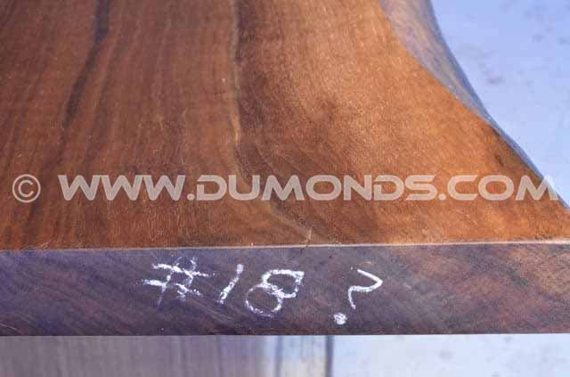 112″ Long Curly Live Edge Dining Table