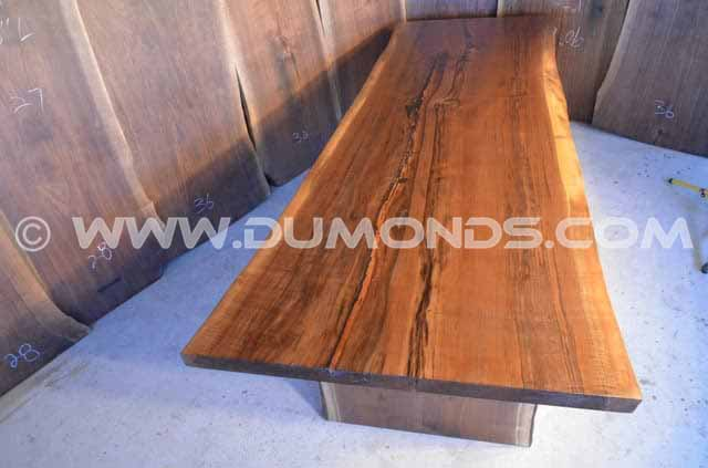 113 Long Curly Live Edge Dining Table