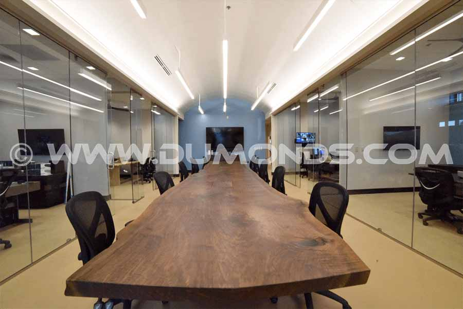 4×22' Single Walnut Slab Conference