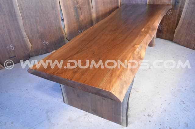 113″ Long Live Edge Walnut Dining Table