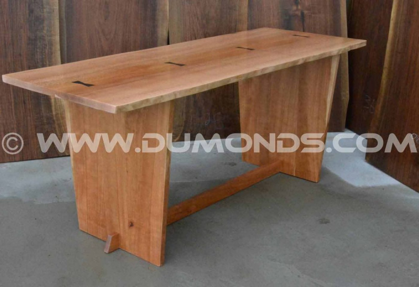 CHERRY TRESTLE TABLE BASE UNDER A 6'