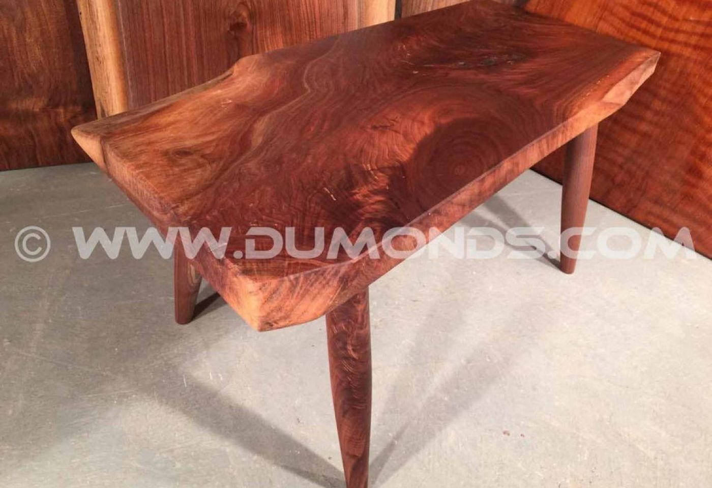 WALNUT TABLE WITH SPINDLE LEGS