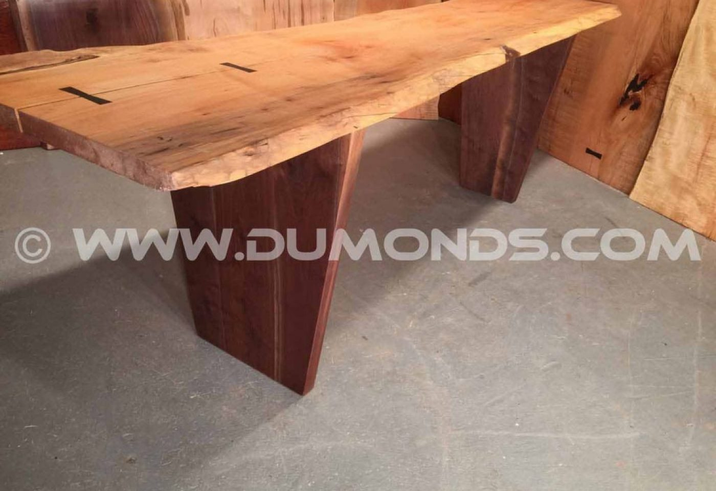 VERTICAL STRAIGHT WALNUT TABLE LEGS WITH TAPERED SIDES