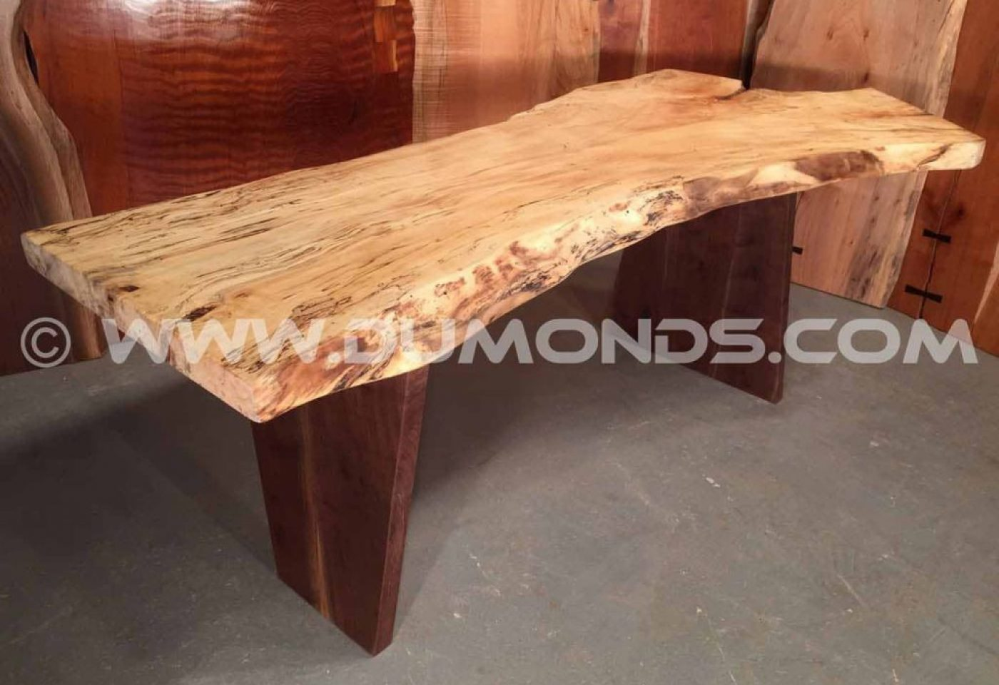 VERTICAL REVERSE TAPER WALNUT TABLE