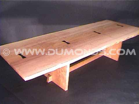 Rustic Sycamore Slab Dining Table - 30