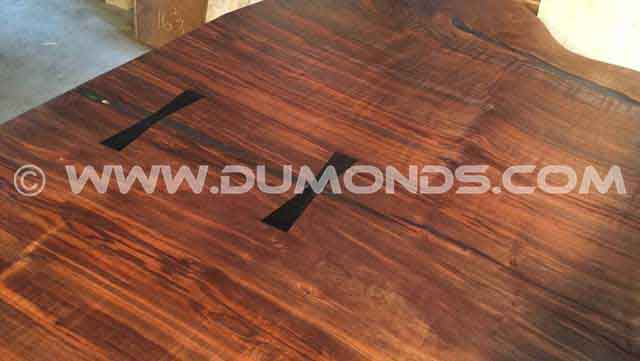 4×22' Single Walnut Slab Conference Table