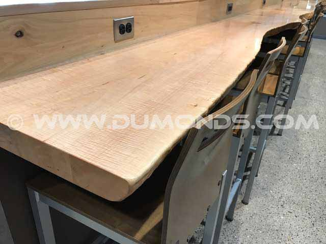 Custom Wood Slab Countertop