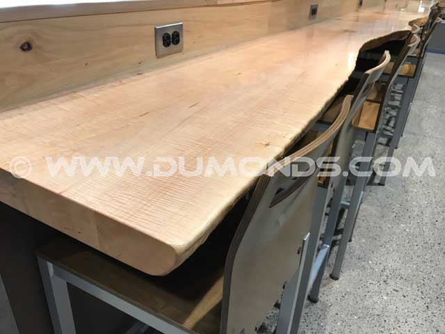 Custom Wood Slab Bar Countertop
