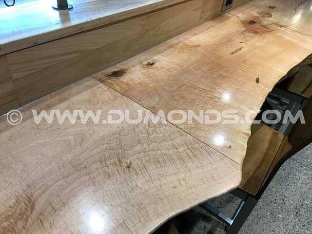 Custom Wood Slab Bar Top