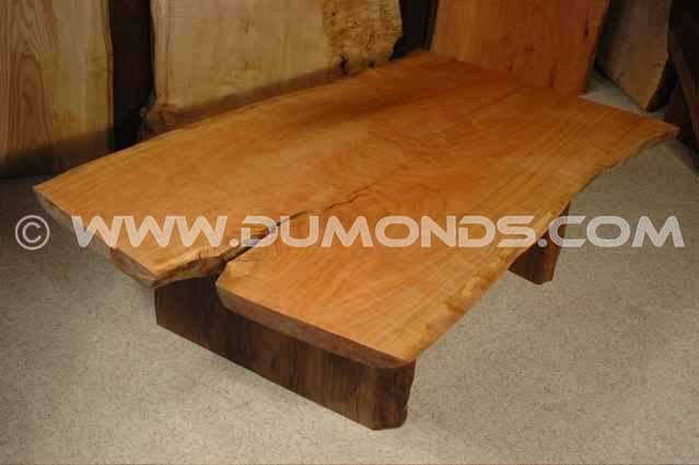 5' Cherry Crotch Rustic Slab Custom Coffee Table