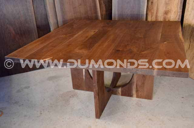 Walnut 5 foot square dining table
