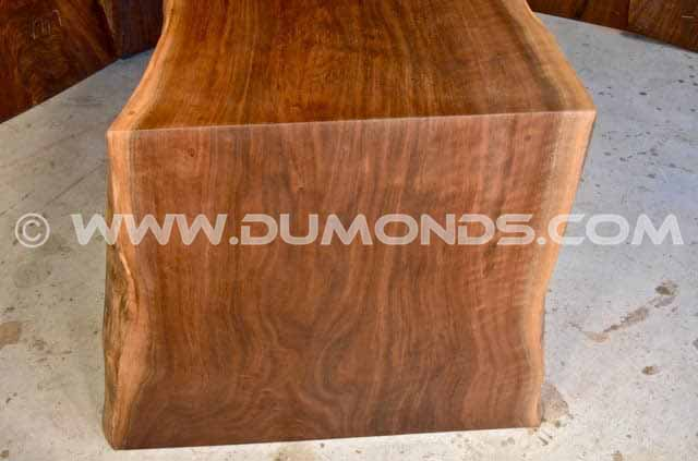 7′ walnut table with 2″ acrylic base