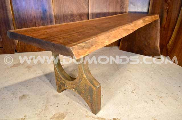 7′ Custom Natural Edge Walnut Table