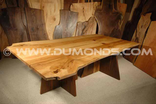 8′ Ash Custom Live Edge Dining Table