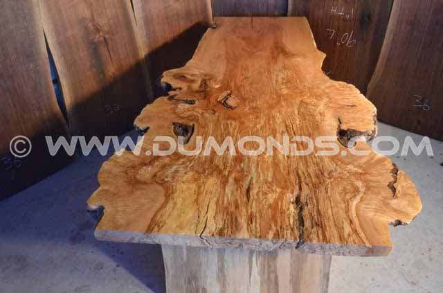 8′ Spalted Maple Burl Dining Table