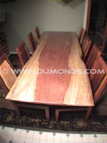 Single Slab Bubinga Dining Room Table