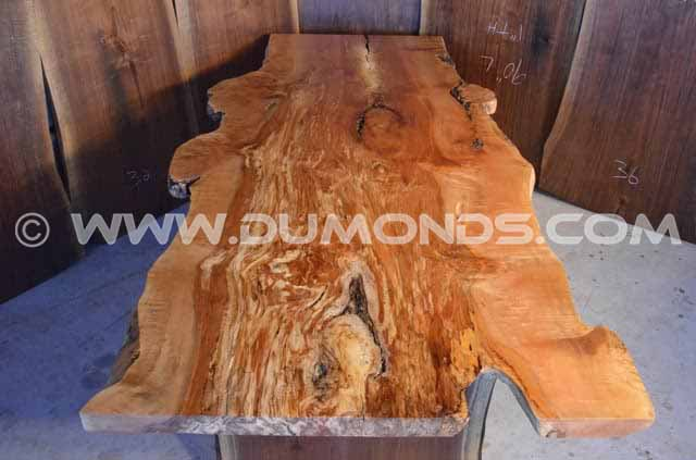 9′ Spalted Maple Live Edge Dining Table