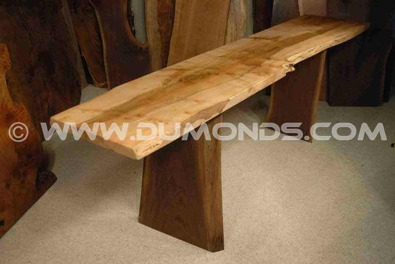 92 Long Reclaimed Maple Slab Desk