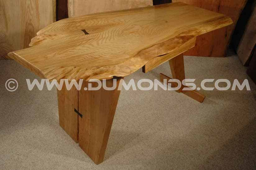 Ash Slab Custom Executive Desk