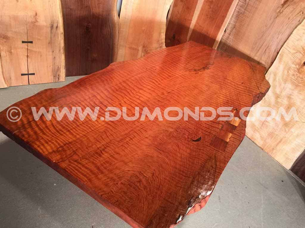 Extremely Curly Redwood Custom Boardroom Table